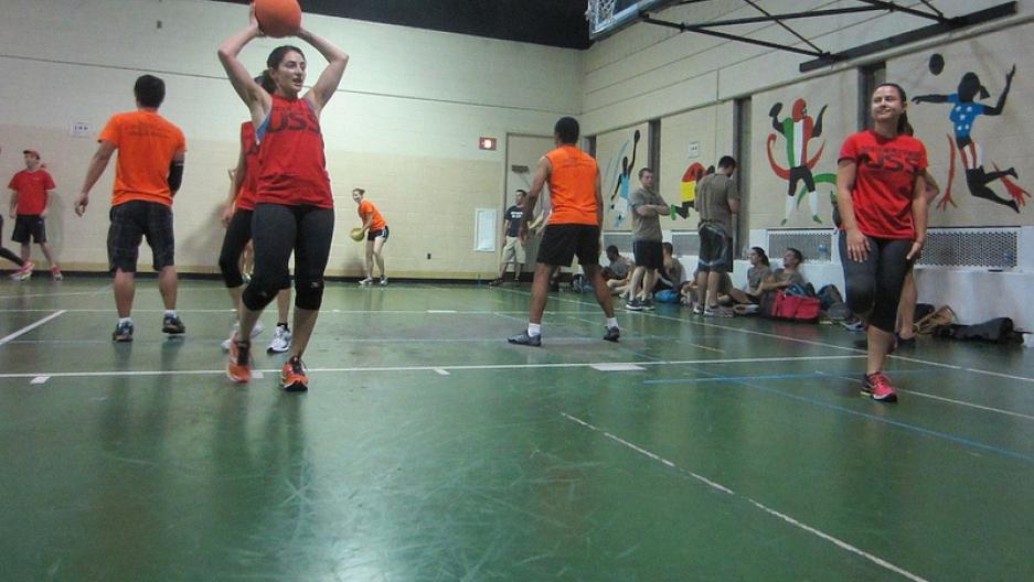 US dodgeball player Paniz Asgari.