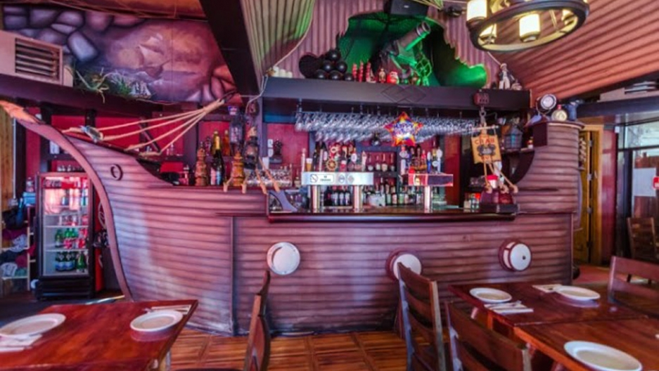The pirate theme is in evidence at Gambrinus, a Russian restaurant in Brighton Beach.
