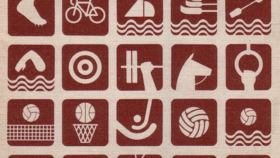 Pictograms from the 1968 Olympic Games in Mexico City