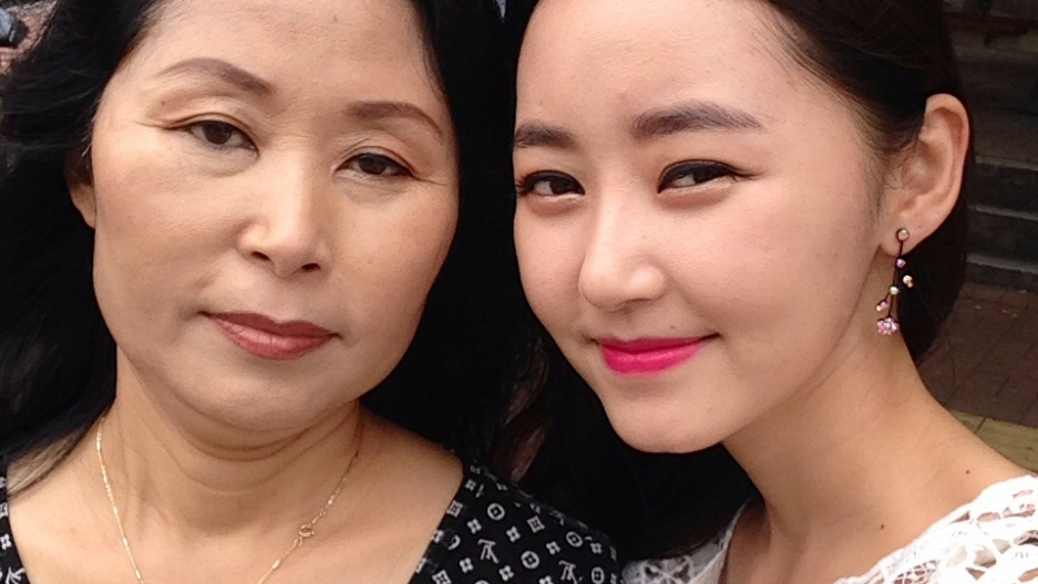 Yeonmi and her mother in South Korea