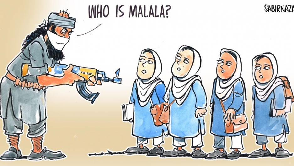 In October 2012, Malala Yousafzai is attacked while riding on her school bus in the northwest Pakistani district of Swat. The gunman asks for Malala by name, then points a Colt 45 at her and fires three shots.
