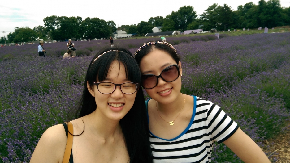 Sing Sing (left) and her sister are Chinese, but live in New York