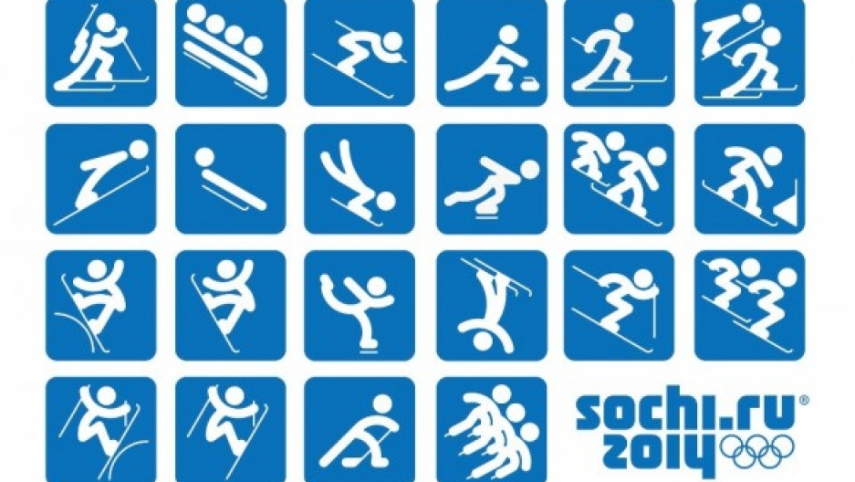 Pictograms for the 2014 Sochi Winter Olympic Games