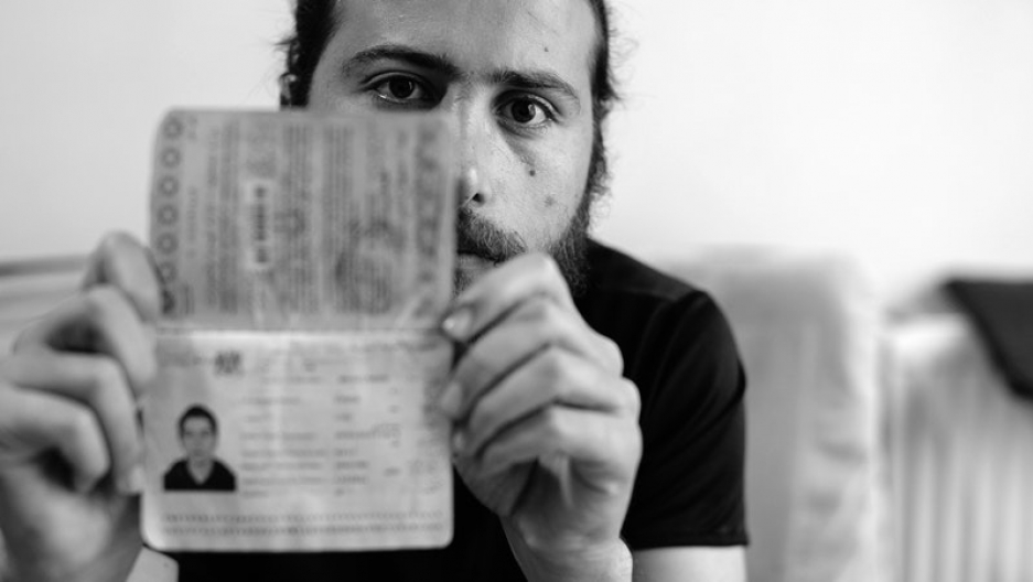 Zaher Said came to Turkey in July 2011. He's holding his Syrian passport, which is about to expire, in his home in Gaziantep, Turkey, on May 20, 2017.