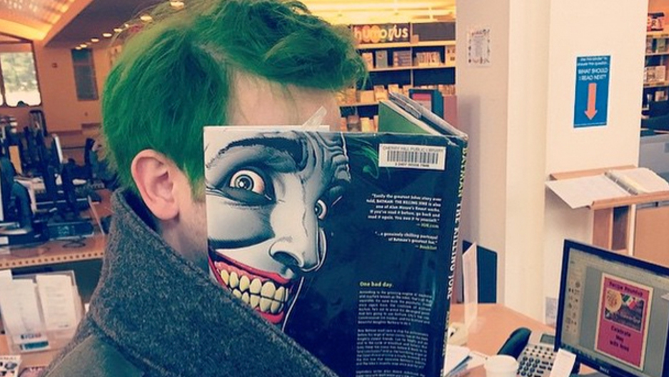 The New York Public Library's Instagram featured New Jersey's Cherry Hill Public Library photo of Batman: The Killing Joke by Alan Moore.