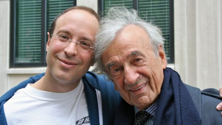 Elisha Wiesel and his father, Elie Wiesel, who passed away in July, 2016.