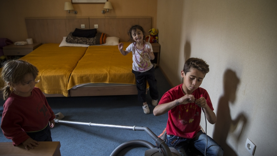 Sezar Hajmusa, 10, from Homs, Syria