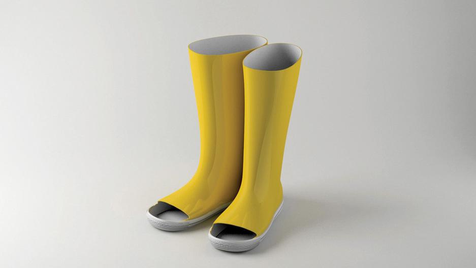 Katerina Kamprani's rainboots