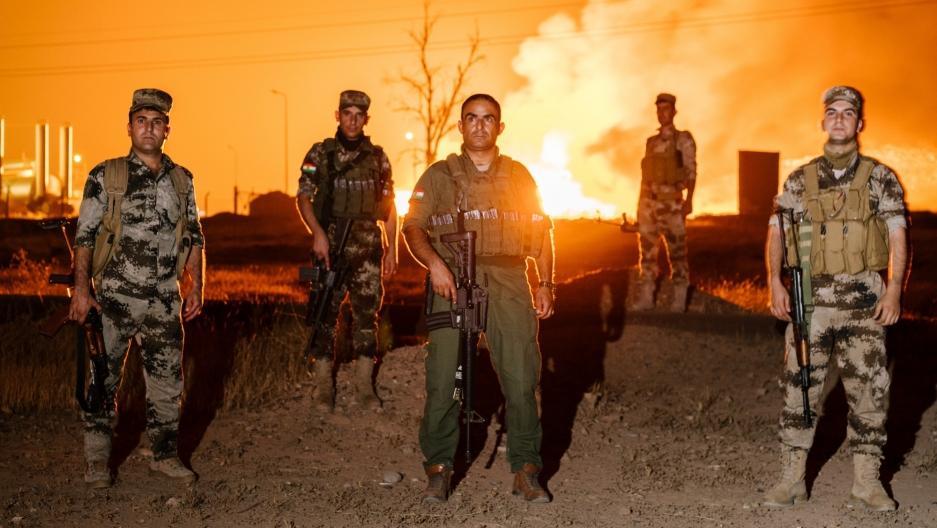 The elite oil and gas unit of the peshmerga near Kirkuk
