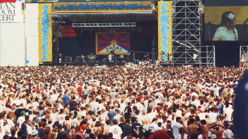 Tibetan Freedom Concert at RFK Stadium in June, 1998