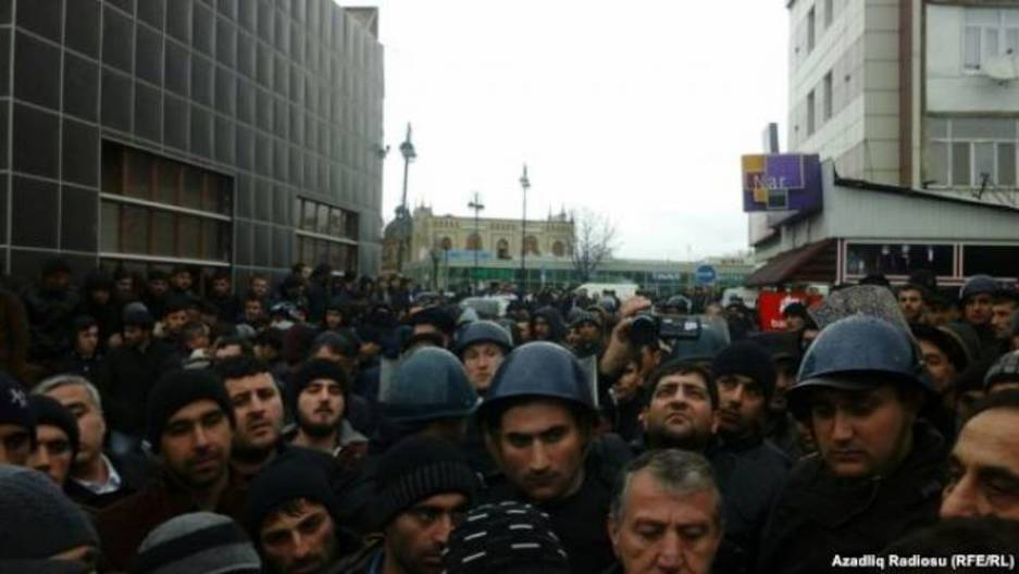 Protest in Guba, Azerbaijan.