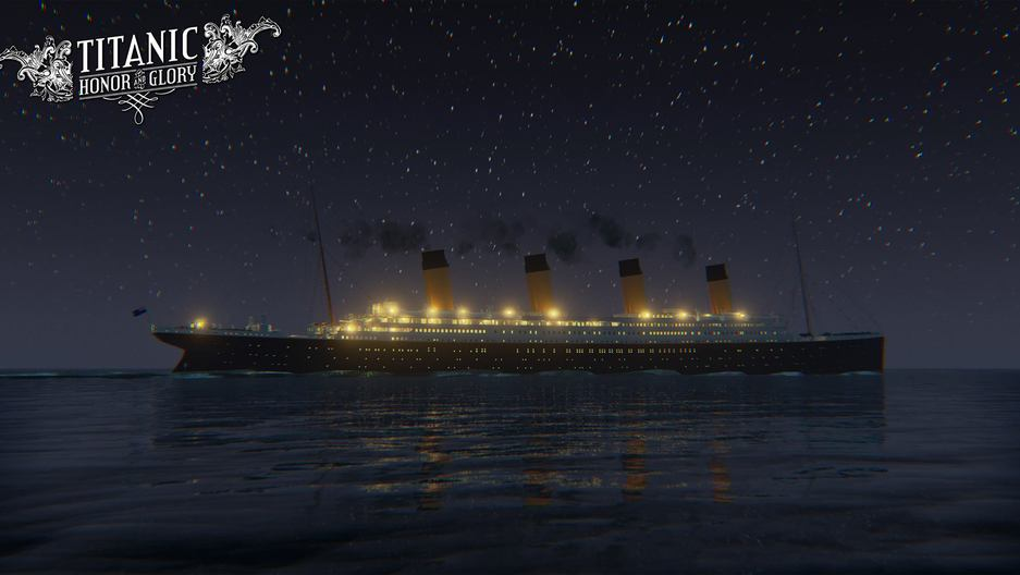 "A shot of the Titanic from ""Titanic: Honor and Glory"""