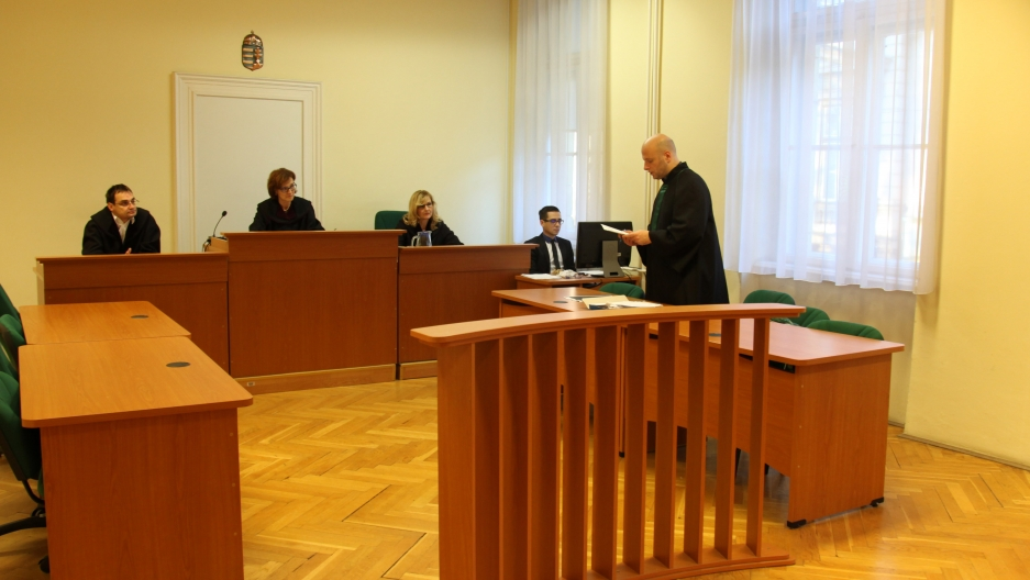 At a court in Szeged, Hungary, judges have convicted 688 migrants of crossing the border with Serbia illegally.