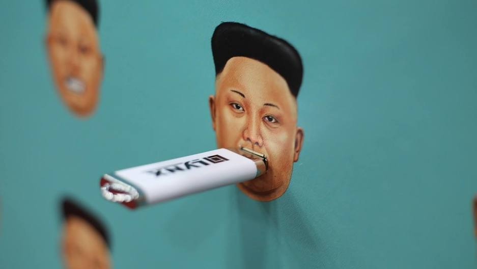 """The exhibit is a metaphor: By donating your flash drive and plugging it into Kim Jong-un's face, you are helping to silence his propaganda machine by giving the North Korean people a window to the outside world."""