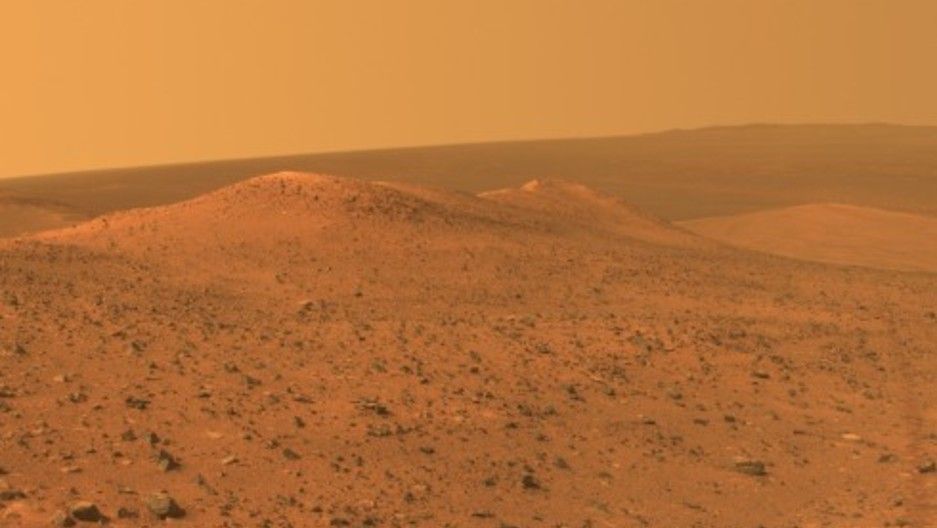 A vista from NASA's Mars Exploration Rover Opportunity