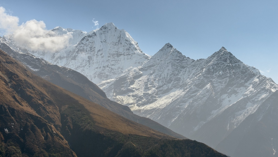 The Himalayas — where legends say the Yeti, or Abominable Snowman, roams.