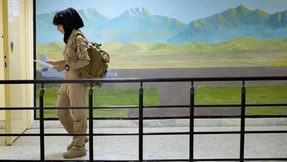 Afghan female pilot