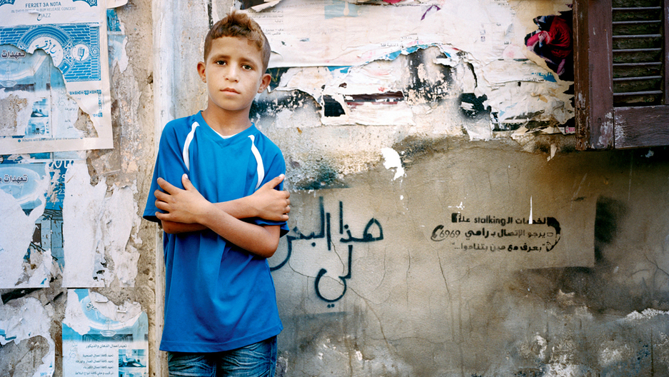 9-year-old Ahmad in Beirut 2014