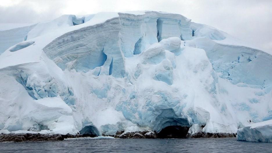 Glaciers on the Melchior Islands off Antarctica.