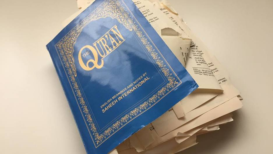 Torn up Quran in Canada