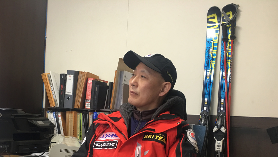 Yoo In-sik in his repair shop in Seoul. Yoo was one of South Korea's first Winter Paralympians.