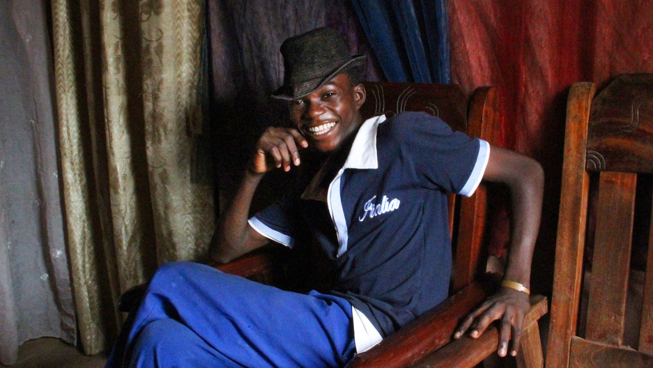 Fortuné, 16, used to have a spaghetti-and-coffee kiosk in Bangui. But it was dismantled one night. So now he's pinning his dreams on his singing group.