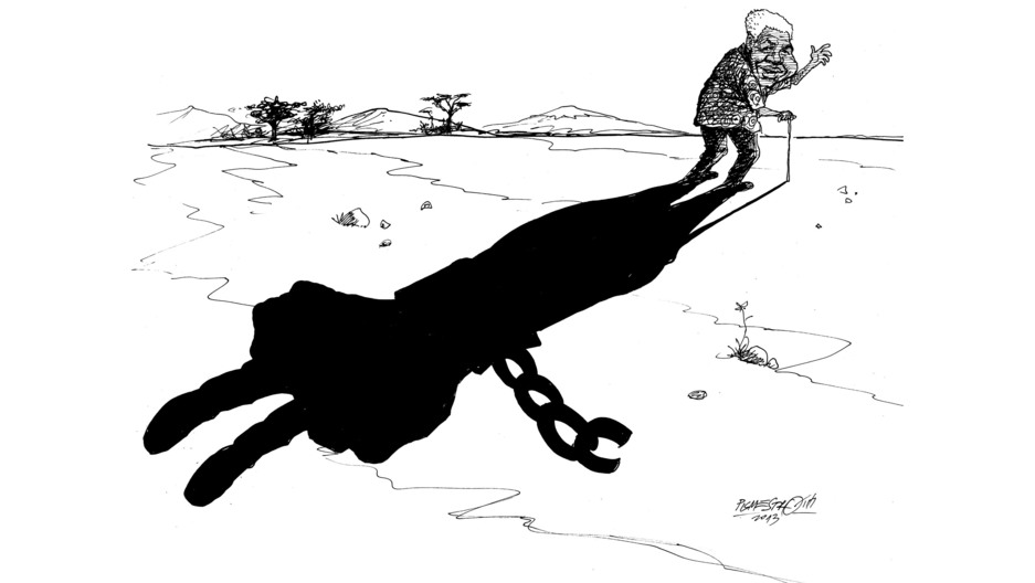 Mandela's shadow cartoon