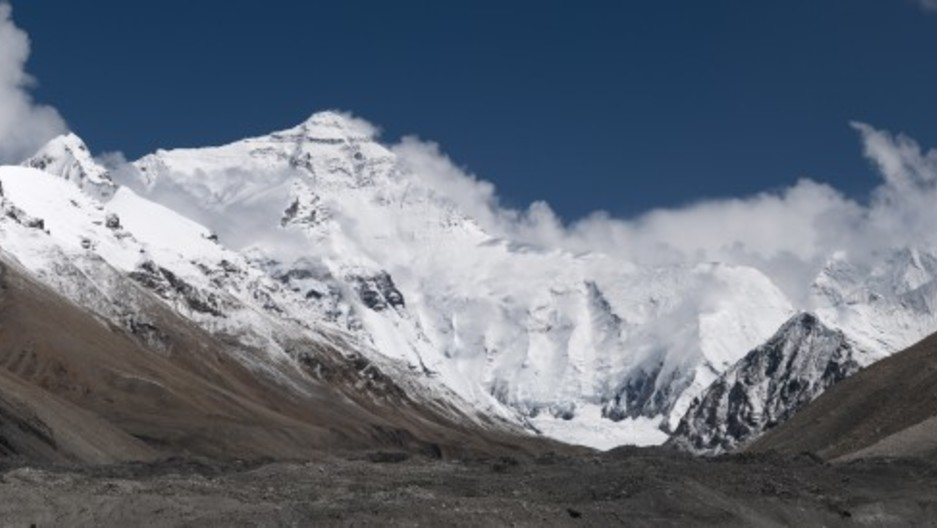 """The real Everest as depicted in """"20110810 North Face of Everest Tibet China Panoramic"""""""