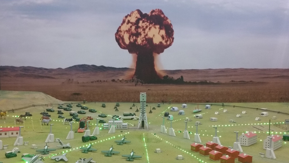 Soviet nuclear test site model