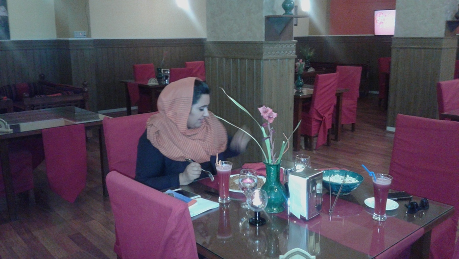 A patron visits a by-women, for-women restaurant in Kabul.