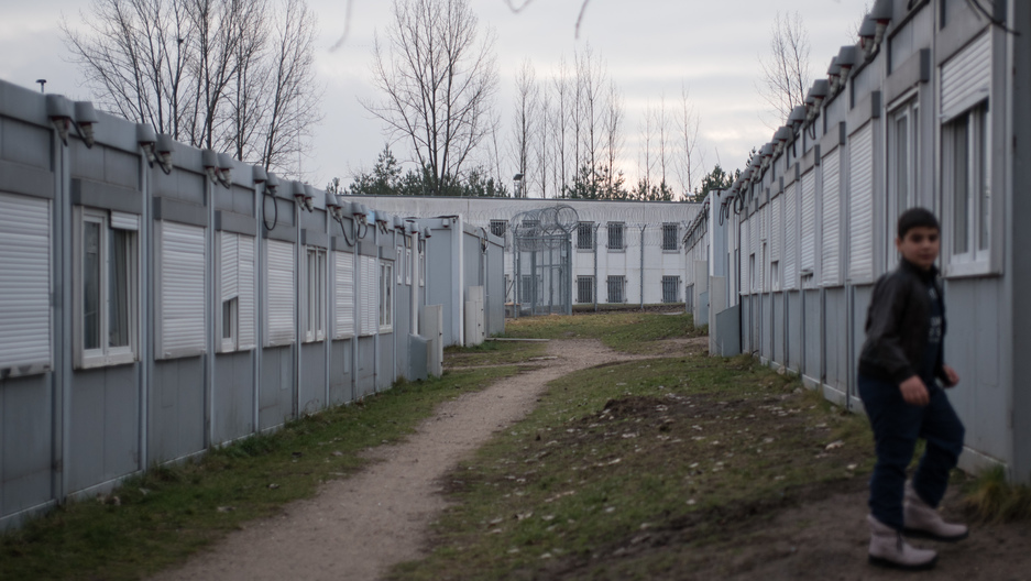 For asylum seekers at the Eisenhüttenstadt Refugee Center, these trailers are a temporary home while they wait for their application process to be completed. Some families end up living here for several months.