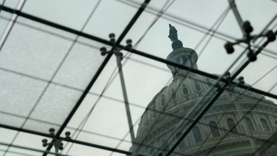 The US Capitol Building is seen from the Congressional Visitors Center in Washington, DC, Dec. 6, 2017.