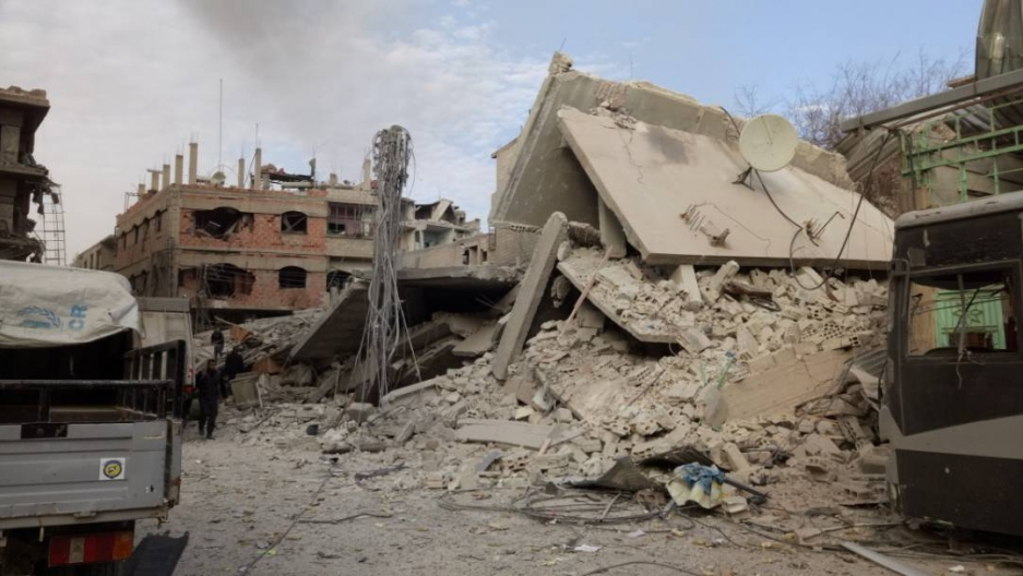 buildings reduced to rubble in Eastern Ghouta