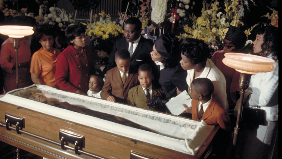 "Two months previously at Ebenezer Baptist Church, on Feb. 4, 1968, King gave his famous ""Drum Major"" sermon. At his widow's request, King eulogized himself, with a recording of the ""Drum Major"" sermon played at the funeral."