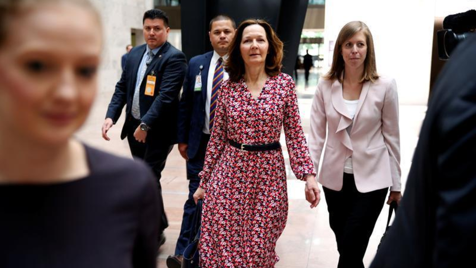 Nominee to be Director of the Central Intelligence Agency Gina Haspel arrives for meetings with Senators on Capitol Hill in Washington, DC,  May 7, 2018.