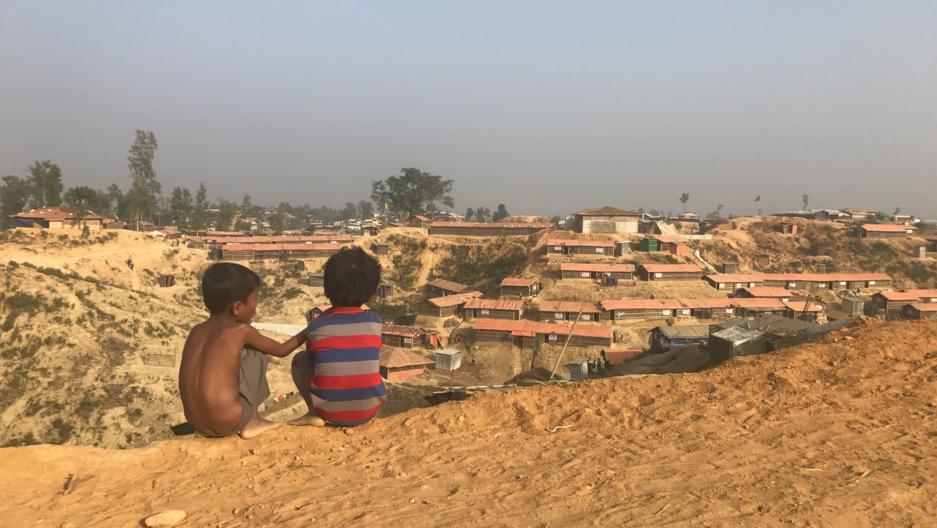 Children at a Rohingya refugee camp in Bangladesh.