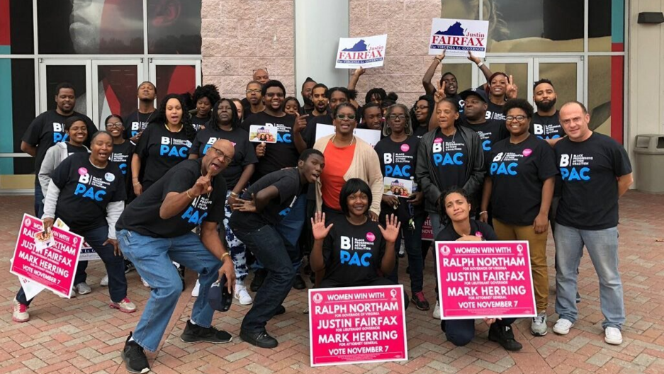 Volunteers for BlackPAC work to mobilize voters ahead of the November 2017 election in Virginia.