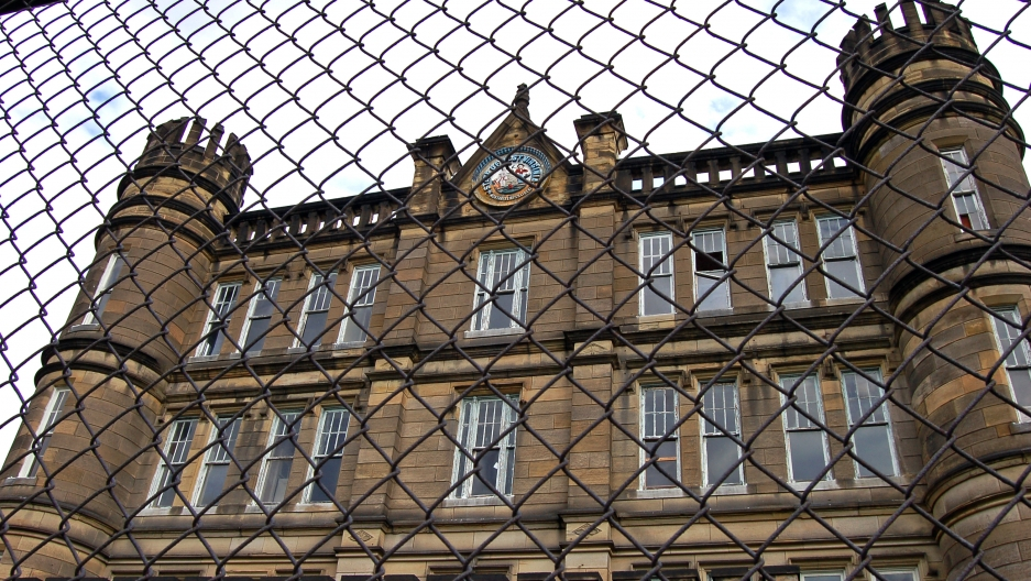 The exterior of the West Virginia Penitentiary in Moundsville, West Virginia.
