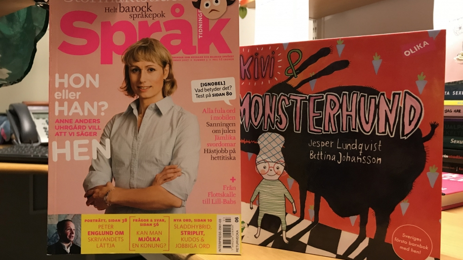 """In 2007 Språk Magazine published an article about """"hen"""" that raised the profile of the word. In 2012, the children's book, """"Kivi & Monsterhund"""" was published sparking a nationwide debate about """"hen"""""""