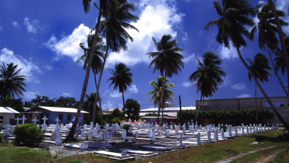 Burial grounds in Majuro.