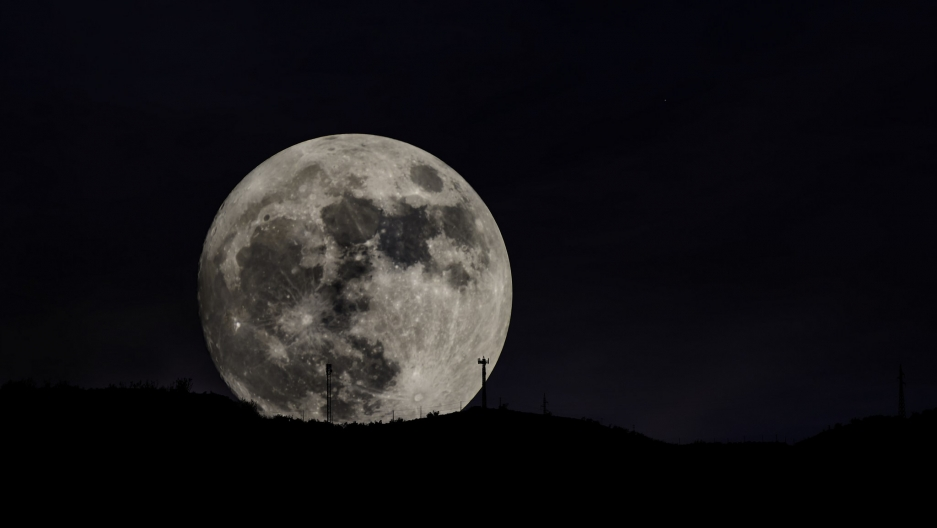 November's supermoon in southern Spain.