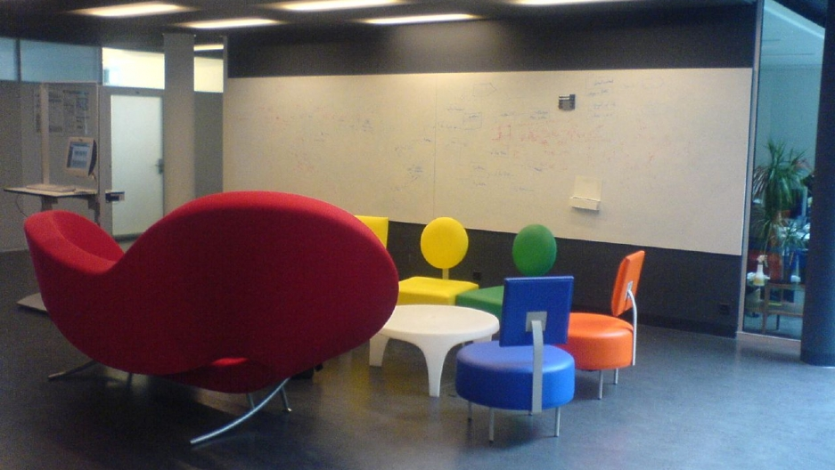 An open design space at EPFL, a research university in Lausanne, Switzerland.