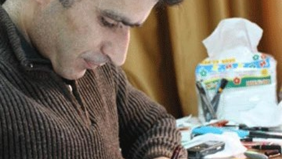 Syrian cartoonist Akram Raslan was arrested by Syrian authorities on October 2, 2012 in Hama. He was last seen on July 26, 2013. Reports that he is now dead have been impossible to verify and many hold out hope that he is still alive.