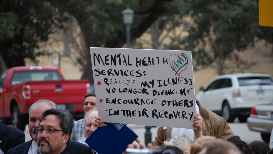 Mental health rally