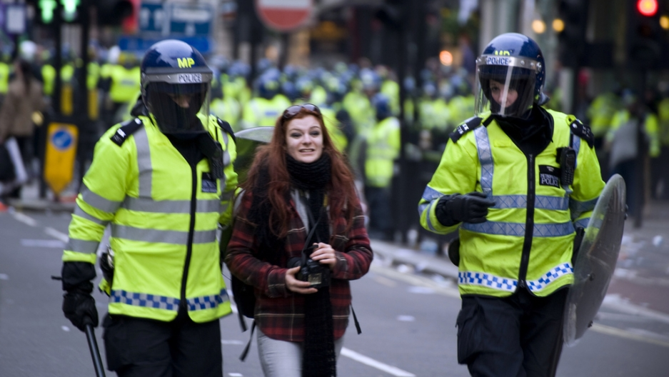 Metropolitan Police at 2011's March for the Alternative.