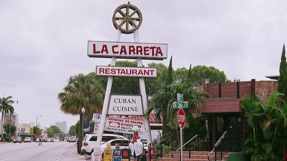 A La Carreta restaurant, a popular Cuban cuisine franchise in the Miami area.