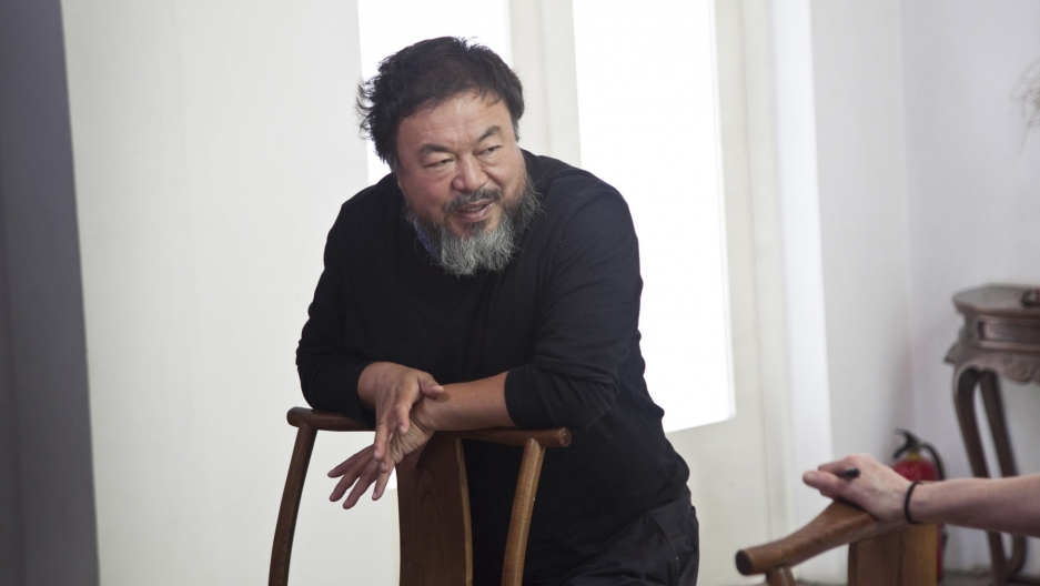 Ai Weiwei at his studio in Beijing, June 2014