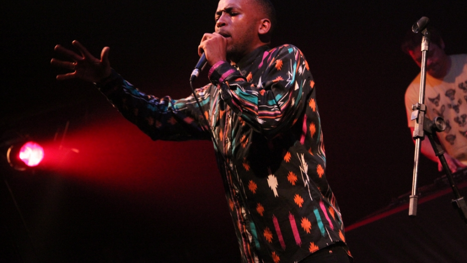 South African artist Spoek Mathambo performs in 2011.
