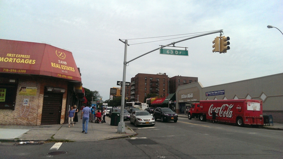 63rd Drive in Queens, which will soon be known as Sergei Dovlatov Way.