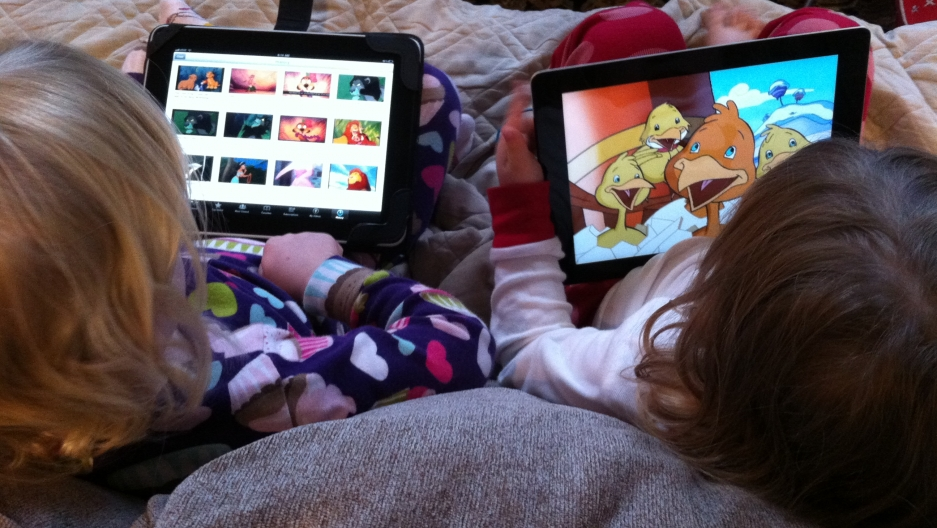 Toddlers using iPads